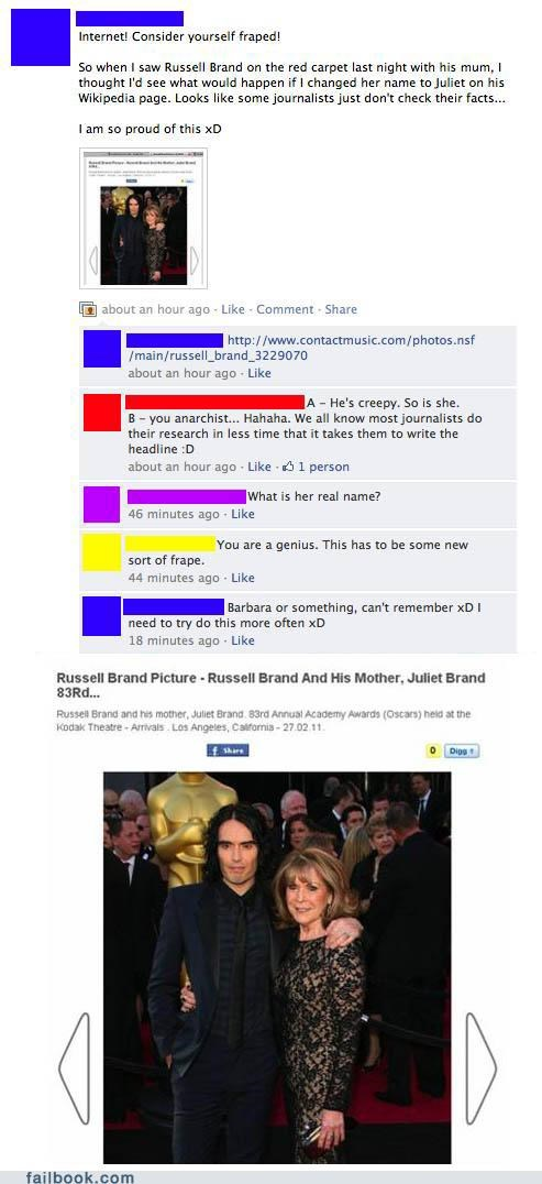 A Failbook Guide to Trolling,mom,names,Russell Brand,troll,wikipedia