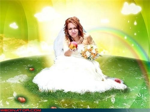 Adam,apple,bad photoshop,eden,Eve,funny wedding photos,nuclear,photoshop,Russian wedding