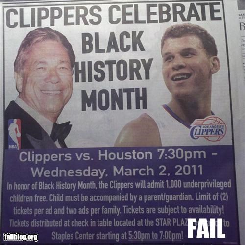 Ad,Black History Month,dates,failboat,g rated,poor planning,wrong month