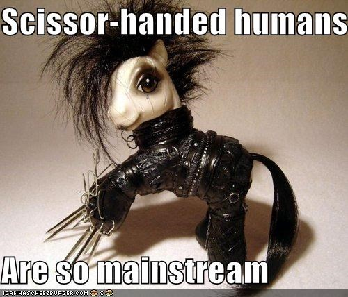 Edward Scissorhands,hipster,mainstream,movies,my little pony,scene