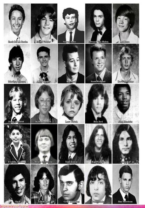 celeb,funny,high school,Music,rock,yearbook