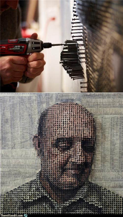 art,clever,not a kludge,screws