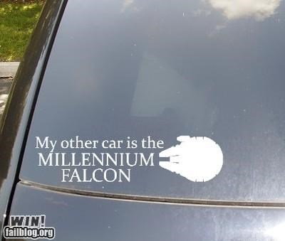 Millenium Falcon nerdgasm star wars sticker - 4509316864