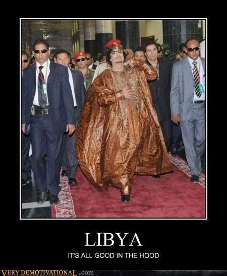gadaffi hilarious hood libya - 4509416960