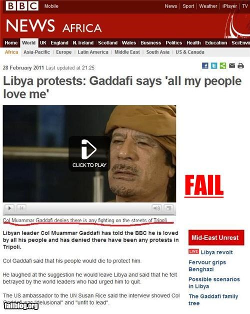 failboat leaders libya loved not loved politics Probably bad News protests public relations riots