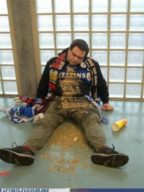drunk passed out puke soccer vomit - 4509933568