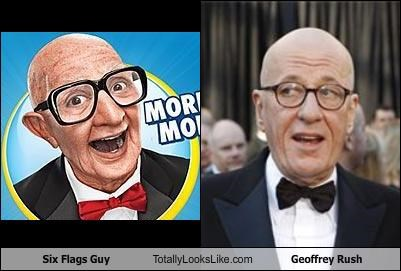 actors Geoffrey Rush mascot six flags Six Flags Guy - 4509942016