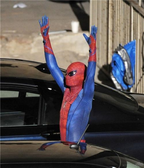 andrew garfield first look movies photo leaks Spider-Man Spiderman suit - 4509969920