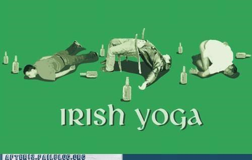 drunk,irish,St Patrick's Day,yoga