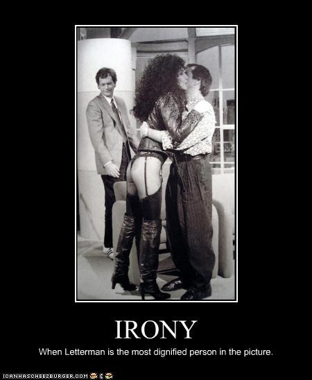 celeb cher David Letterman demotivational funny TV