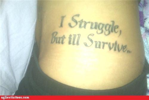 tattoos,misspelling,ill,funny