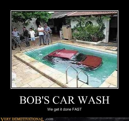 bad idea,car,car wash,pool