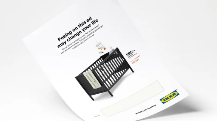 advertising campaign pee ikea pregnancy test - 4510981