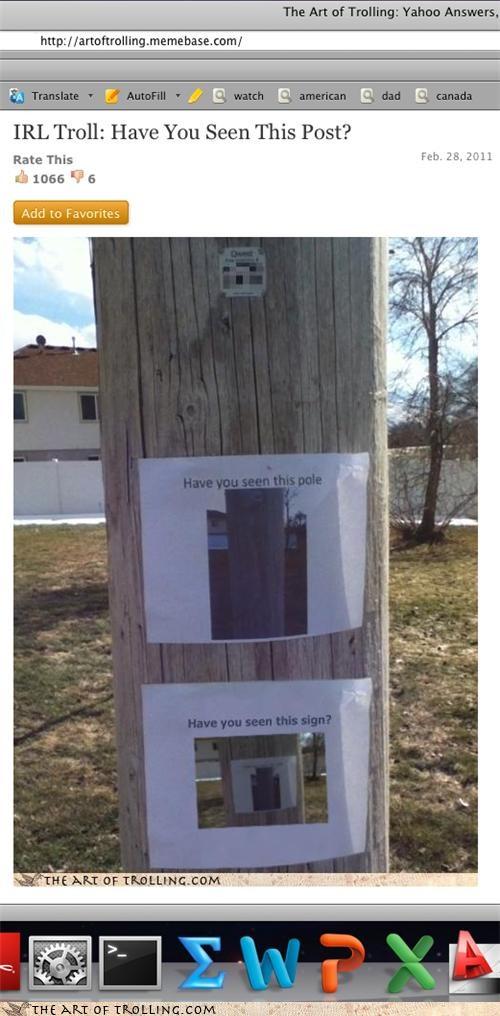 art of trolling Inception pole post screenshot - 4510995456