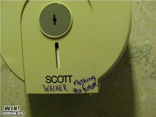 Bathroom Graffiti hacked politics sharpie - 4511073536