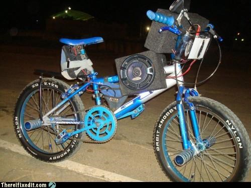 bicycle,radio,speakers,wtf
