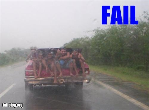 bad idea cars driving failboat g rated safety too many people trunks