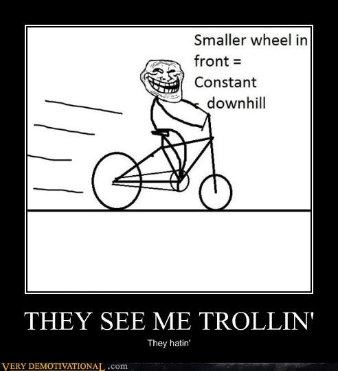bike hating troll science trolling wtf