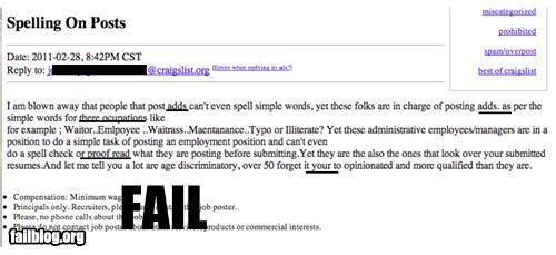 ads craigslist facepalm failboat online posts rage rants spelling - 4511505408