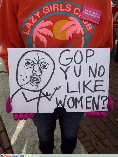 GOP protests Memes political pictures protest signs Y U NO - 4512185088