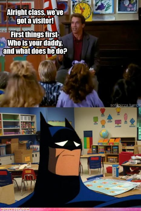 Arnold Schwarzenegger,batman,comic,funny,panel,shoop