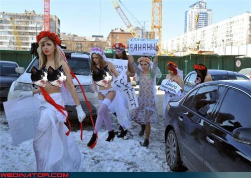 feminism,funny wedding photos,mail order brides,new zealand,Protest,ukraine