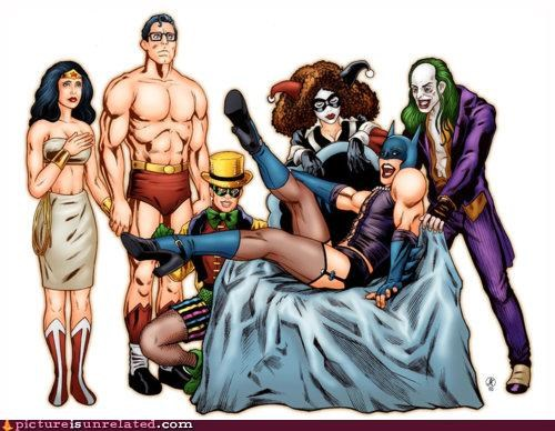 art,batman,mashup,Rocky Horror Picture Show,superman,wtf