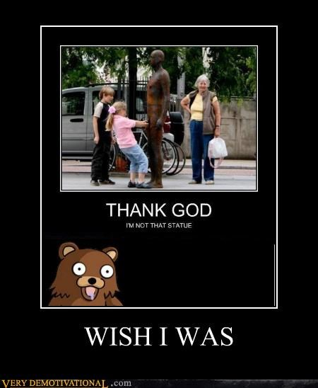 eww,hilarious,kids,pedobear,statue