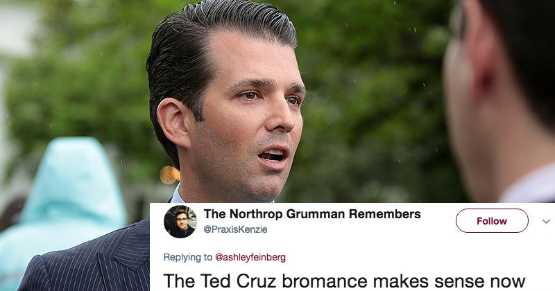 Donald Trump Jr.'s getting roasted on Twitter for liking an NSFW account.