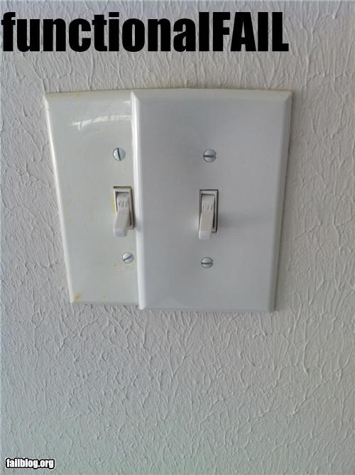 DIY,electrical,failboat,g rated,light switch,poor planning