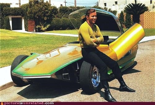 awesome Captain Kirk car Star Trek William Shatner wtf - 4512626944