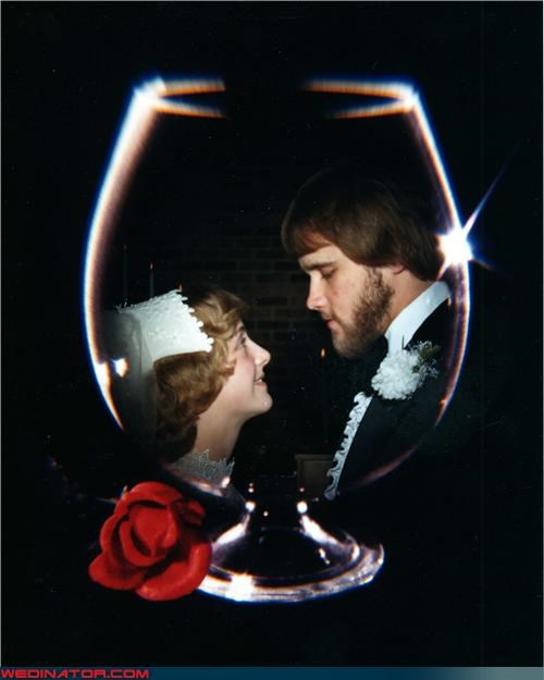 1970s-wedding,beard,chalice,cup,funny wedding photos,retro wedding