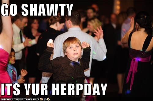 bacardi birthday dancing derp herpday kid Party shawty - 4512879872