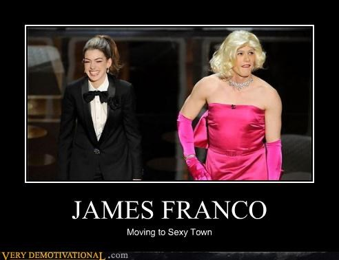 anne hathaway,cross dressing,James Franco