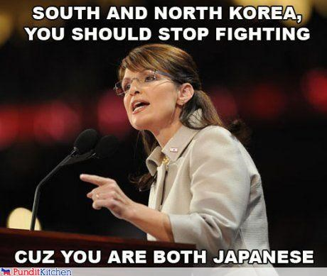 Japan,North Korea,political pictures,Sarah Palin,south korea