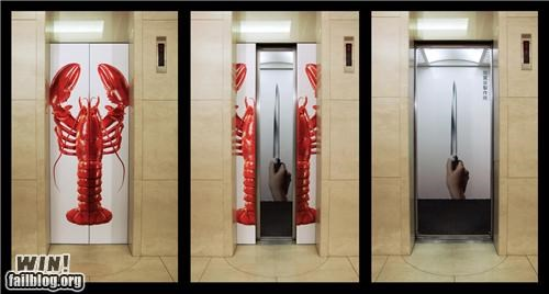 Ad clever elevator food I see what you did there - 4513223168