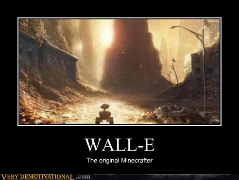 minecraft,Movie,video games,wall.e