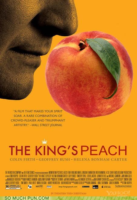 academy award,Colin Firth,film,helena bonham-carter,kings,Movie,oscar,peach,similar sounding,slurring,the-kings-speech,title,winner