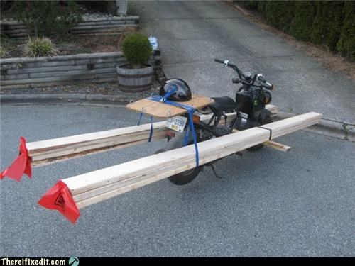 motorcycle safety towing wood wtf