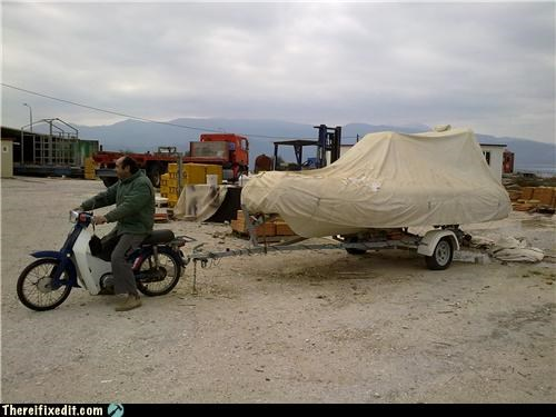 boat motorcycle towing wtf - 4514367232