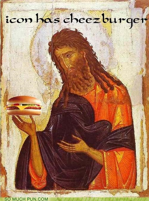 i can I Can Has Cheezburger icon iconography john the baptist similar sounding wtf - 4514412288