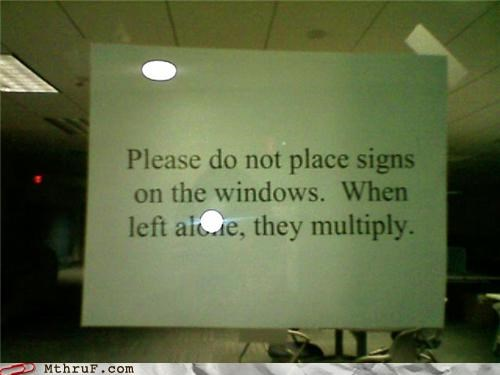 funny,multiply,sign,window