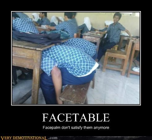 face facepalm table wtf