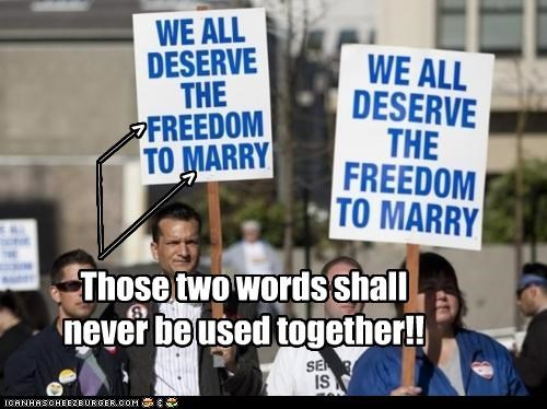 Those two words shall never be used together!! __________ _____ > _____________ >