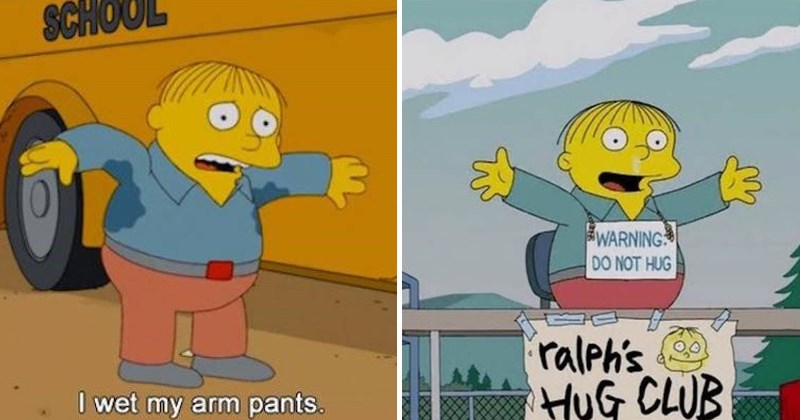 Funny pics of Ralph Wiggum from the simpsons.