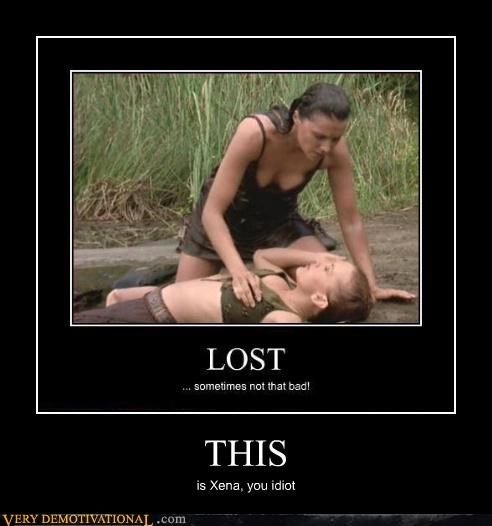boob grab,lost,TV,Xena