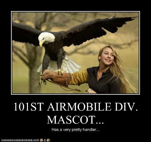 101ST AIRMOBILE DIV. MASCOT... Has a very pretty handler...