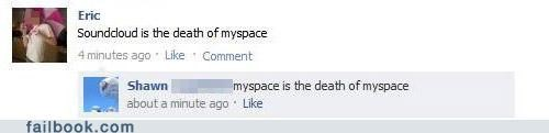 myspace,technology,witty reply