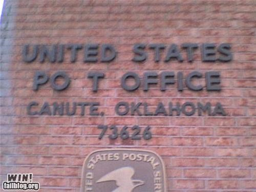 government marijuana post office signs spelling - 4515097088
