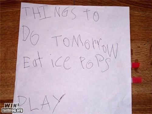 cute,kids,notes,to-do list
